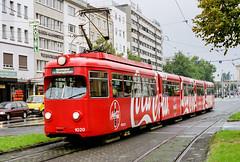 RHB_1020_199910 (Tram Photos) Tags: rhb rheinhaardtbahn tram tramway strasenbahn überlandstrasenbahn duewag gt12 vollwerbung ganzreklame