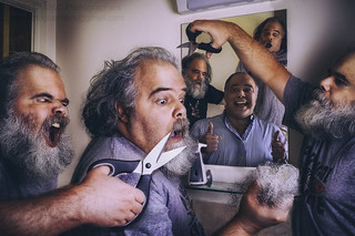 Friends of Mine Friends, Hair Cutting and Shaving Day!