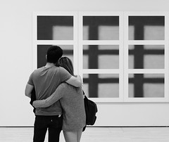 SF Moma (thedailyjaw) Tags: california sanfrancisco sfmoma sf bay area museum art exhibit couple love experience understanding reflection x100f fuji fujifilm filmsimulation acros