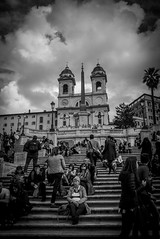 L1002697 (Bruno Meyer Photography) Tags: roma romanisti piazzadispagna spagna trinitàdeimonti lazio italia iloveitalia acasa dolcevita vacanzeromane history sky skyline clouds church architecture walk photography travel travelphotography leica leicam leicam240 leicaimages leicacamera leicalens 35mm summarit bw bwphotography blackandwhite blackandwhitephotography raw edit