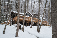 Recent pictures from our mountain cabin in North Carolina [Explore 2017-12-15] (jimf_29605) Tags: pisgahgetaway mountain cabin elkpark northcarolina winter snow mounains sony a7rii 24240mm elkriver