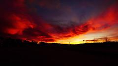 20171111_162224 (Svein Rasmussen) Tags: grimstad sunset red clouds norway