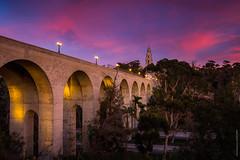 Cabrillo Bridge (eramos_ca) Tags: bridge cabrillo sandiego balboa park bluehour sony a6500