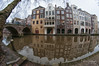 Utrecht fisheye citycape w/ reflection (PaulHoo) Tags: nikon d300s fisheye samyang 8mm utrecht city urban oude gracht reflection architecture water canal cityscape 2017 building houses