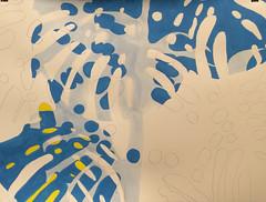 2017.09.09 Canopy (WIP) (Julia L. Kay) Tags: shadow shadows silhouette juliakay julialkay julia kay artist artista artiste künstler art kunst peinture dessin arte woman female sanfrancisco san francisco daily everyday 365 botanical botany plant foliage splitleaf philodendron splitleafphilodendron sundances schminke aerocolor ink paper brush liquitex