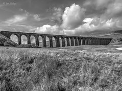 Ribblehead Mono (Ian Gedge) Tags: england uk britain yorkshire northyorkshire ribblehead viaduct mono blackandwhite bw landscape