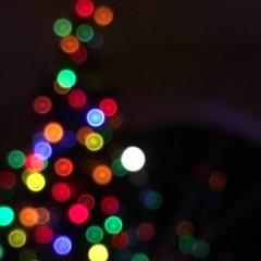 Christmas Tree Bokeh (Trish P. - K1000 Gal) Tags: lights blur intentional moon colors colorful bokeh christmastree winter holidays