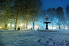 Zrinjevac (dokson_) Tags: croatia zagreb zrinjevac cityscape nightscape winter snow square christmas advent lights landscape blending travel europe pentax old pentaxk10d pavilion tree park fountain