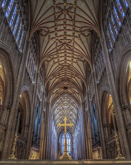 solitary moments (Wizard CG) Tags: bristol cathedral hdr uk architecture gothic college green olympus epl7 ngc world trekker micro four thirds 43 m43 mzuiko digital ed tourist attraction light windows church building indoor ceiling room people symmetry vault