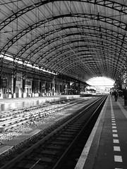 (lili_kanio) Tags: transport gare station black urban bnw city europe paysbas hollande haarlem