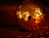 lit by candle light (Hetwie) Tags: macro litbycandlelight light licht ball xmasornament kerstbal macromonday macromaandag candlelight kaarslicht reflection reflectie