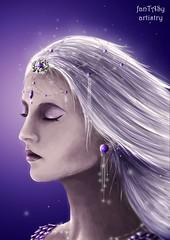 amethyst (Tas*) Tags: digitalpainting art digitalart portrait amethyst crownchakra chakra crystal