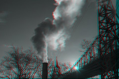New York, New York (DDDavid Hazan) Tags: newyork newyorkcity ny nyc eastriver queensborobridge queens steam bridge sunset anaglyph 3d bwanaglyph blackandwhiteanaglyph 3danglyph 3dstereophotography redcyan redcyan3d stereophotography stereo3d streetphotography