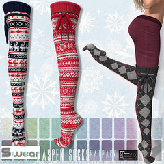 L&B Swear Aspen Socks @UBER:DEC (Lapointe & Bastchild) Tags: secondlife sl lapointe bastchild lapointebastchild lb swear socks thighhigh knit wool winter norweigian nordic maitreya lara argyle cotton cozy wintery boot