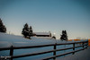 Vernon Winter Afternoon (Fraser8888) Tags: winter canada 35mm vernon bc sky clear snow cold fence farm moon rise