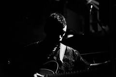 Puma Blue (Cath Dupuy) Tags: music gig concert london corsicastudios jacoballen pumablue jazz saxophone singersongwriter blackandwhite monochrome blackandwhitemusicphotos musicphotography lowkey lowlight spotlights guitar venue musicvemue portrait explore
