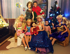 Happy New Year!!! (alenamorimo) Tags: barbie barbiedoll dolls christmas holidays barbiecollector