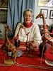 Catherine & giraffe companions (ali eminov) Tags: wayne nebraska parties newyearseveparty gilbertshouse giraffes catherine celebrations