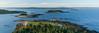 The Maine Coast (hessamt) Tags: blue coreamaine coastal atlanticocean islands sheepisland northeast lobster aerial djiphantom4proplus symmetry parallel azur sandbar granite magichour polarizer nature landscape