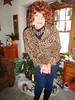 Pre-Christmas Preparations (Laurette Victoria) Tags: woman laurette xmas leggings redhead animalprint necklace