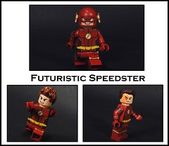 Futuristic Speedster (Metarix (MrKjito)) Tags: lego minifig super hero comics comic flash futuristic speedster cw future suit barry allen tv show savitar