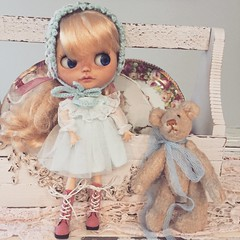 A dolly and her teddy 💕