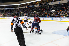 """Kansas City Mavericks vs. Kalamazoo Wings, January 5, 2018, Silverstein Eye Centers Arena, Independence, Missouri.  Photo: © John Howe / Howe Creative Photography, all rights reserved 2018. • <a style=""""font-size:0.8em;"""" href=""""http://www.flickr.com/photos/134016632@N02/25707994908/"""" target=""""_blank"""">View on Flickr</a>"""