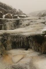 "Frozen ""Explored"" (Derbyshire Harrier) Tags: crowdenclough frozen icicles mist lowcloud stream peakdistrict peakpark kinder derbyshire darkpeak winter december snow ice kinderscout waterfalls gritstone 2017 explore explored"