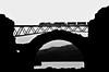 _equilibrium railway_ (ALXM_) Tags: ferrocarril railroad railway puente bridge blackwhite blanconegro cielo sky galicia galiza equilibio equilibrist