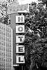 Plaza Hotel (Thomas Hawk) Tags: california plazahotel sanjose southbay usa unitedstates unitedstatesofamerica bw hotel neon fav10