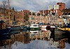 Noorder haven (Greet N.) Tags: groningen harbour water sky quay ships buildings reflections