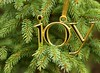Joy (Karen_Chappell) Tags: gold green evergreen tree branches joy decor decoration xmas noel holiday christmas ornament spruce