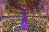 Christmas time [FR] (ta92310) Tags: fr france paris 75009 winter hiver 2017 grands boulevards haussman gallerieslafayette europe magasin store architecture ceiling animation noel christmas fisheye wide couleur color