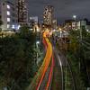 Arakawa Line (B Lucava) Tags: tokyo ikebukuro zoshigaya arakawaline tram lighttrail railway building night city cityscape