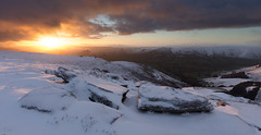 Kinder Scout Sunrise (Paul Newcombe) Tags: sunrise peakdistrict peaks derbuyshire snow landscape winter autumn 2016 countryside hills mountain uk england nationalpark derbyshire