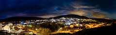 Panorama Perales de Tajuña ventoso (Renato Di Prinzio Fotografía) Tags: perales tajuña de noche nocturno night paisaje landscapes parnoramica panoramic madrid españa spain europa europe nubes clouds cielo sky pueblos village poblacion luces lights way carreteras trees arboles sunset atardecer