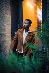 Damien @ Soho (kjocalliste) Tags: portrait portraiture portraits male model fashion fall winter style nikon d750nikon d750 celebrity man nyc ny new york city manhattan soho noho buildings building urban 2017 green glass bush