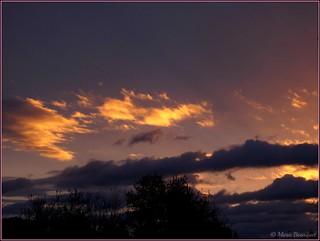 Thuir : un étonnant coucher de soleil le 29 décembre 2017