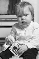 I am bored.. (jannaheli) Tags: suomi finland joutseno nikond7200 lapsivalokuvaus childphotography lapsi child poika boy valokuvaus photoshooting photography photographing potretti portrait mv mustavalkonen bw blackwhite valaisu strobist homestudio