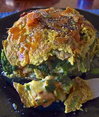 Spinach Frittata (Padmacara) Tags: cooking eggs onion spinach cheese g11 explored rezept