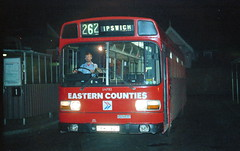 Eastern Counties LN782 (DPW782T) Ipswich 1985 (BristolRE2007) Tags: bus easterncounties nationalbuscompany nbc suffolk leylandnational