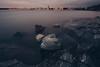 Kivikallio (Bunaro) Tags: vuosaari aurinkolahti uutela suomi helsinki finland europe long exposure sea landscape cityscape water rocks nature sunset yokfeed