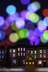 Festive Still Life (Welsh Photographer) Tags: festive christmas xmas ornament ornaments wooden village scene wood pentax k3ii sigma 105mm color colour bokeh