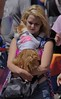 Pussy Cat (swong95765) Tags: woman female lady blonde parade cat feline carried cute