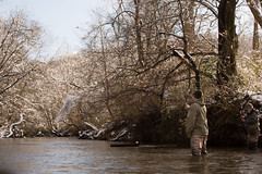 North Georgia Snow & Fly Fishing (DitchGyrl) Tags: 2017 cartecay ellijay fishing flyfish river snow december jasdanny winter