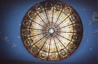 Wilkes-Barre  Pennsylvania  - Irem Temple Mosque - Shriners Headquarters  -  Now Abandon  -  Skylight
