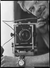 Intrepid 1 (salparadise666) Tags: intrepid 4x5 schneider symmar 210mm fomapan 9x12 sheet film caffenol rs 13min nils volkmer selfie bw black white analogue large format view camera swing flash monochrome home developed