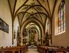 Leoben, Österreich / Austria: Maria am Waasen (CBrug) Tags: leoben österreich austria mariaamwaasen church kirche kirchenschiff gewölbe gotisch raum innenansicht panorama shift