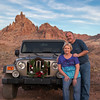 Merry Christmas! (what's_the_frequency) Tags: christmas december desert desertsouthwest southwest southwesternus southwestus americansouthwest mohavecounty buttes thumbbutte sky rocks mountains peaks rocky rugged jeep wreath 365 365pic project365