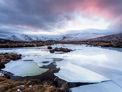 Ba (Ba) Black Mount (Stoates-Findhorn) Tags: highland 2017 scotland sunset glencoe ice lochba rannochmoor blackmount lochannastainge winter mountain unitedkingdom gb